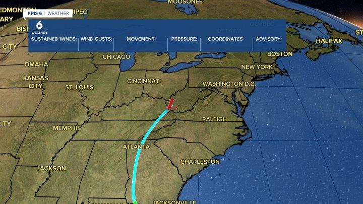 Tropical Storm Beta tracking
