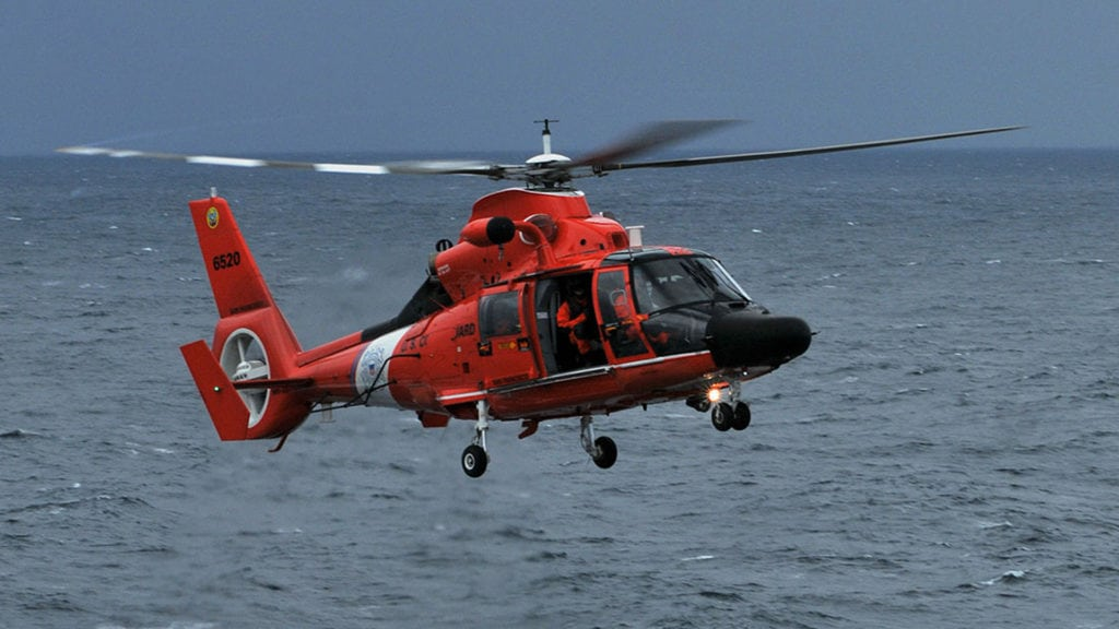 U.S. Coast Guard MH-65 helicopte