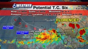 Potential Tropical Cyclone Number 6 emerged off the coast of Africa early Thursday morning.