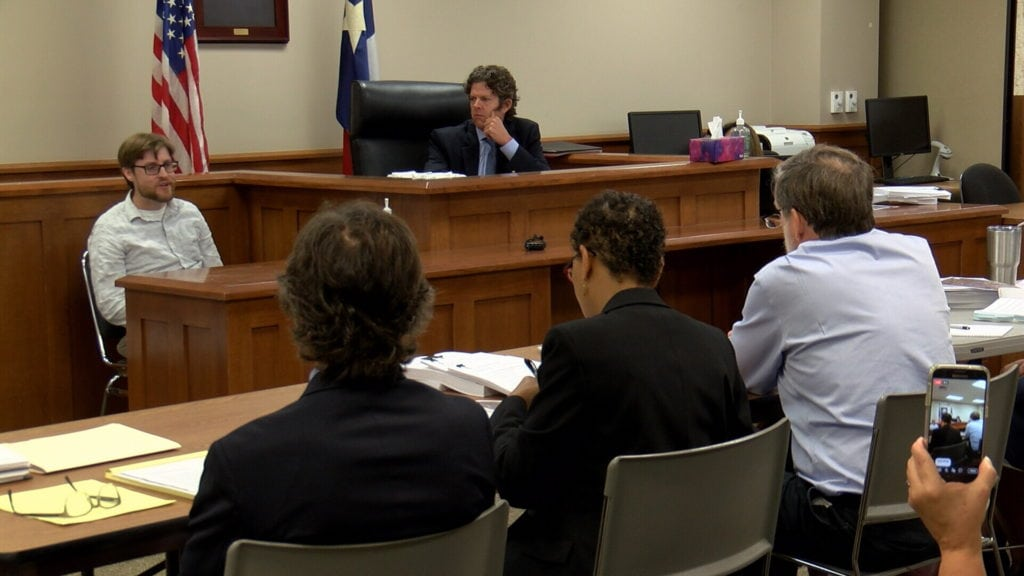 Attorneys for the Sierra Club question a witness during Thursday's hearing.