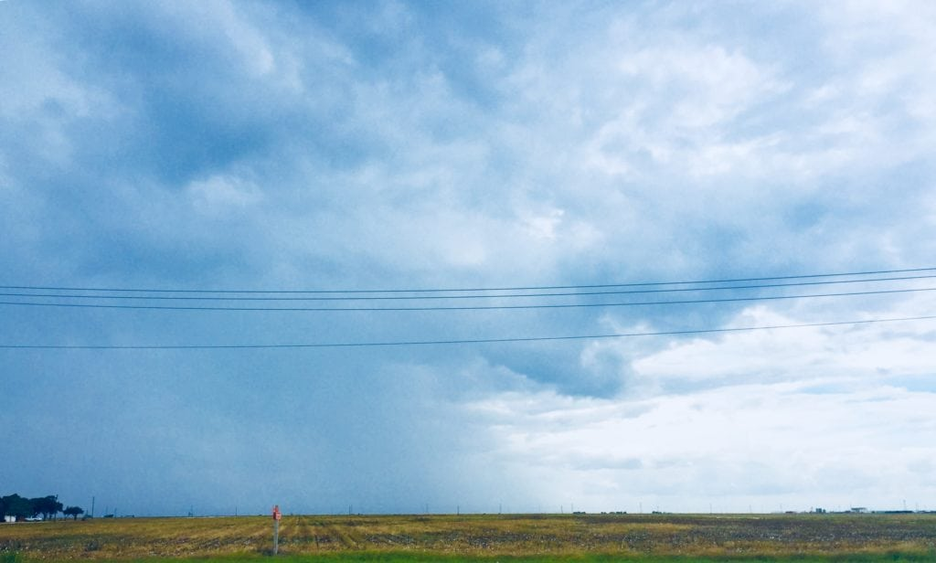 Scattered thundershowers as seen in Calallen on Thursday 9-6-18.