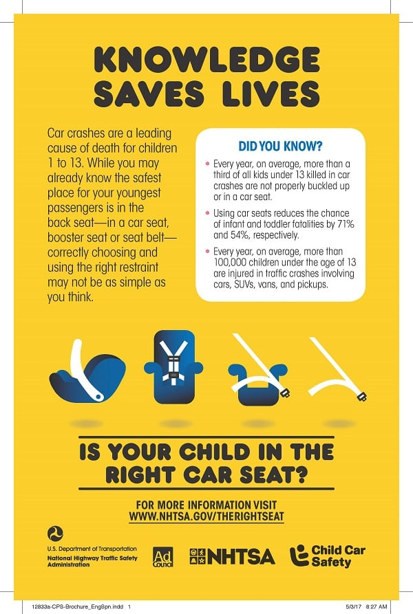 Age Weight Height For Booster Seats