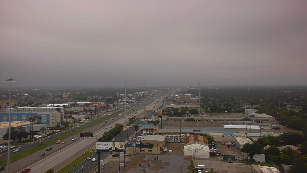 Clouds and mist falling near SPID in Corpus Christi on Friday, October 19, 2018.