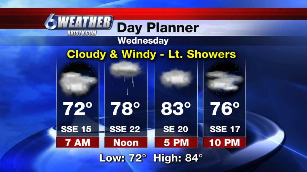 6WEATHER Day Planner for Wednesday 4/17/19.