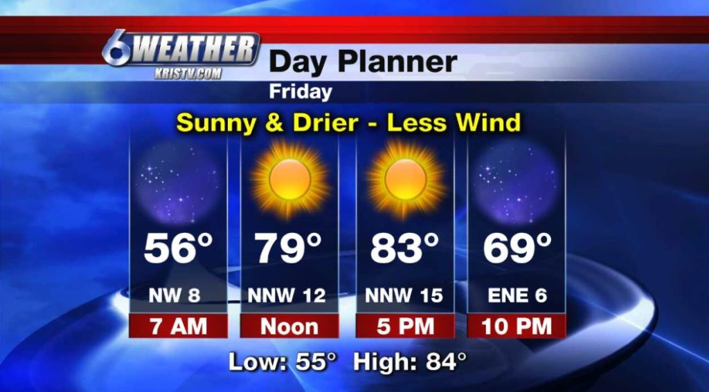 6WEATHER Day Planner for Friday 4/19/19.