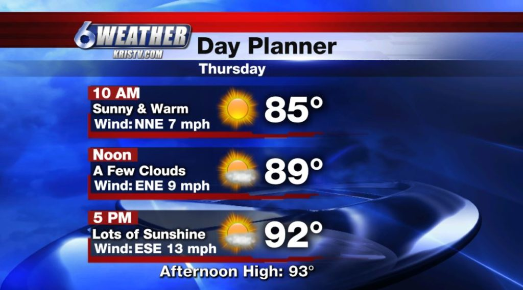 6WEATHER Day Planner for Thursday 6/13/19.